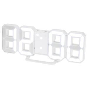 Haolong LED 壁掛け デジタル時計 - 3D 立体 wall ウォール clock アラーム機能付き 置き時計 壁掛け時計|relawer
