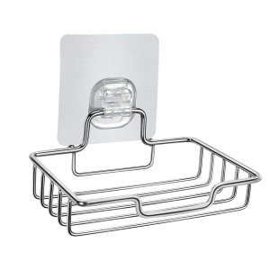 HOMEIDEAS ソープディッシュ 石鹸置き 粘着フック 強力吸着 しっかり固定 石鹸ホルダー ト...
