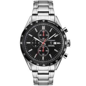 ギオネ 腕時計 フライトタイマー タキメータークロノグラフ FC42SBK