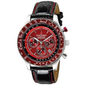 ギオネ 腕時計 フライトタイマー パイロットクロノグラフ FT42SRE-BK