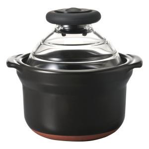 HARIO ( ハリオ ) フタ が ガラス の ご飯釜 1合 萬古焼 炊飯 土鍋 GN-150B|relawer