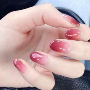 24枚入 原宿 和風 夢幻 手作りネイルチップ 可愛い 優雅ネイル 粉紫の漸変色 和装 ネイル ネイル花嫁