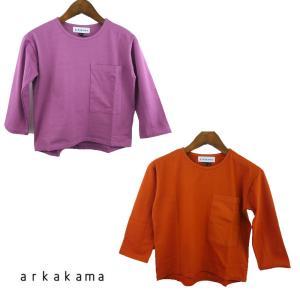 【SALE 50%OFF】arkakama (アルカカマ)  POCKET LOOSE L/S TE...