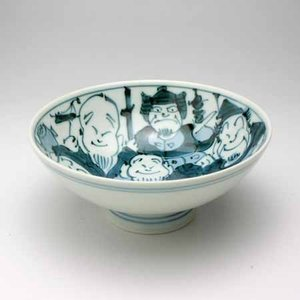 ご飯茶碗 飯碗 有田焼 手描き七福神 小 茶碗