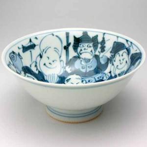 ご飯茶碗 飯碗 有田焼 手描き 七福神 特大 茶碗