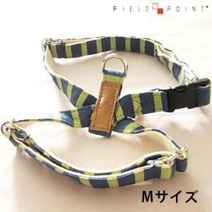 フィールドポイント ニットボーダーハーネス ブルーxグリーン Mサイズ(犬用ハーネス) (メール便可) n relish