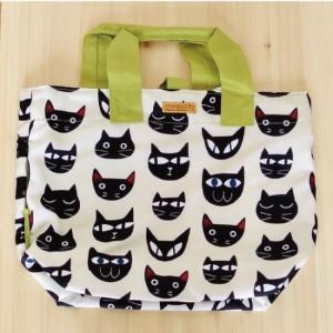ノアファミリー ショッピングバッグ ホワイトnoafamily ネコマニア ねこ雑貨 ネコ雑貨 猫雑貨 ねこグッズ ネコグッズ 猫グッズ|relish