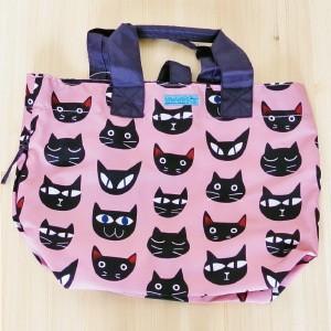 ノアファミリー ショッピングバッグ ピンクnoafamily ネコマニア ねこ雑貨 ネコ雑貨 猫雑貨 ねこグッズ ネコグッズ 猫グッズ|relish