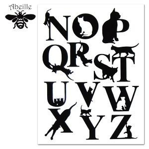 Aveille アルファベットステッカー ネコ N-Z AWS-1011 黒猫アイアンシリーズ ねこ雑貨 ネコ雑貨 猫雑貨 ねこグッズ ネコグッズ 猫グッズ クロネコ|relish