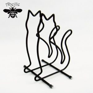 Aveille まな板スタンド ネコ ブラック ADMT-855 黒猫アイアンシリーズ ねこ雑貨 ネコ雑貨 猫雑貨 ねこグッズ ネコグッズ 猫グッズ クロネコ relish
