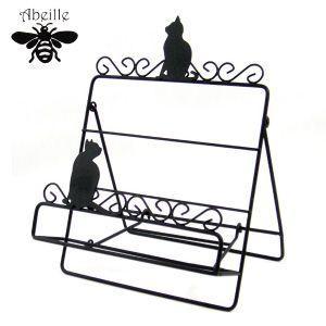 Aveille レシピスタンドS ネコ ブラック ADS-955 黒猫アイアンシリーズ ねこ雑貨 ネコ雑貨 猫雑貨 ねこグッズ ネコグッズ 猫グッズ クロネコ|relish