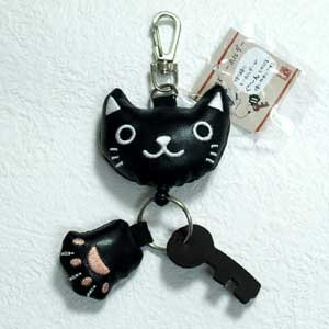 のあぷらす のびのび猫キーホルダー 黒猫 ねこ雑貨 ネコ雑貨 猫雑貨 ねこグッズ ネコグッズ 猫グッズ relish