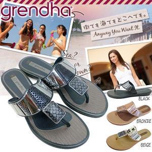 グレンダ ラバーサンダル レディース トングサンダル Grendha PITON GD81409 黒|reload-ys