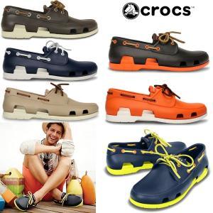 クロックス メンズ サンダル ビーチライン ボート シュー メン crocs beach line boat shoe men 14327  軽量 デッキシューズ|reload-ys