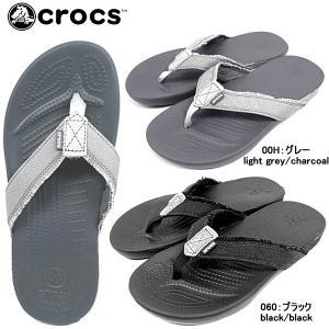クロックス サンタクルーズ 2.0 フリップ メン crocs Santa Cruz 2.0 Flip Men [14393] メンズ トングサンダル サンダル 国内正規取扱店 黒|reload-ys