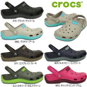 クロックス デュエット ウェーブ クロッグサンダル メンズ レディース crocs Duet Wave 200366 正規品 黒|reload-ys