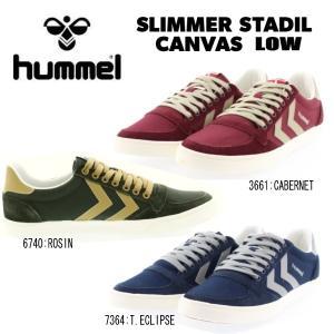 ヒュンメル スニーカー レディース メンズ スリマー スタディール キャンバス hummel SLIMMER STADIL CANVAS LOW [HM64442]|reload-ys