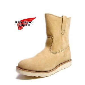 レッドウィング メンズ ブーツ ペコス REDWING RED WING 8168 9インチ ベージュスエード レッドウイング セール 正規品