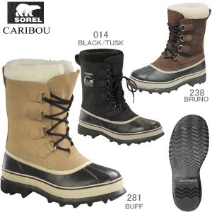SOREL Caribou NM1000 ソレル カリブー メンズ スノーブーツ 防寒 防水 ガムシュー 黒 雪|reload-ys