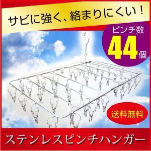ステンレス ピンチ ハンガー 44ピンチ  【商品詳細】 使用時サイズ:約 縦幅34cm×横幅61c...