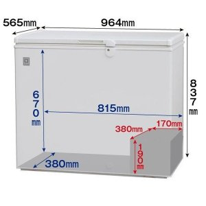 レマコム 冷凍庫:上開きタイプ 冷凍ストッカー RRS-210CNF|remacom|03