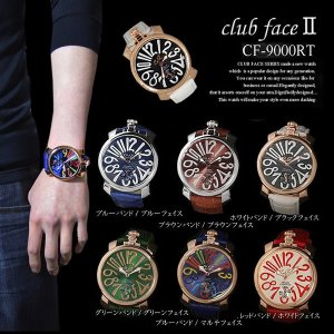 メンズ 腕時計 クラブフェイス Club Face 人気 ブランド スムースタイプ CF-9000RT レビューを書いて送料無料 remake