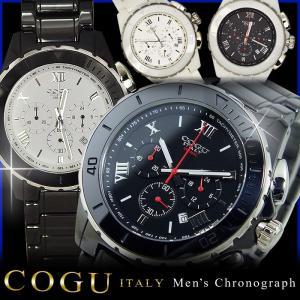 メンズ 腕時計 コグ COGU クロノグラフ カレンダー付き CRM2 ベルト調整工具付き 送料無料 remake