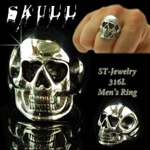 指輪 メンズ リング 人気 ステンレス スカル ドクロ 髑髏...
