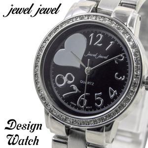 腕時計 レディース 人気 ジュエルジュエル jewel jewel ハート文字盤 ラインストーン GV007|remake