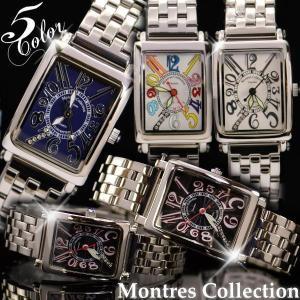 腕時計 メンズ レディース ペア ウォッチ 人気 メタル Montres Collection モントレスコレクション|remake