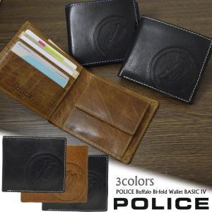 長財布 メンズ POLICE 本革レザー バッファロー 牛革 二つ折り財布 BASIC ポリス財布 PA-59300|remake