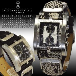 腕時計 メンズ キースバリー PSC パイソン柄 ヘビ革ベルト レザー クロノグラフ 日付カレンダー 送料無料|remake