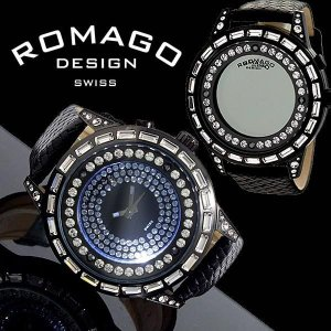 腕時計 メンズ レディース 人気 ブランド ランキング/ロマゴデザイン ROMAGO DESIGN ダズルシリーズ RM006-1477BK-WH ワケあり 送料無料|remake