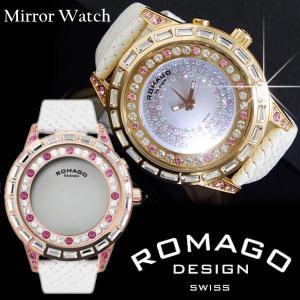 腕時計 メンズ レディース 人気 ブランド ランキング ロマゴデザイン ROMAGO DESIGN スワロフスキー RM006-1477RG-PK 送料無料|remake