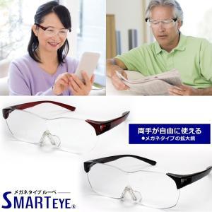 ルーペ 拡大鏡 メガネタイプ 眼鏡の上からもOK!ハンズフリー ソフトケース付き 送料無料|remake