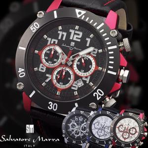 腕時計 メンズ サルバトーレマーラ Salavatore Marra  スポーツ クロノグラフ アルミ レザー 革ベルト SM13115|remake