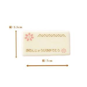 バースデー チョコプレート 白 誕生日 文字記入可能
