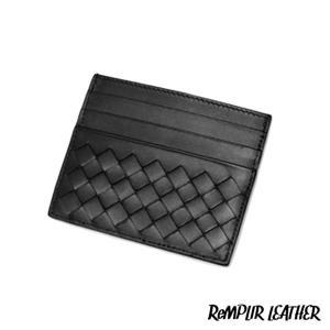 CSMイントレチャート レザーカードホルダー ブラック | ランプリール・レザー|remplirleather