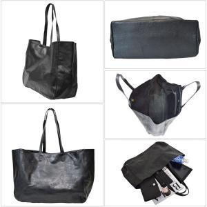 [世界に1点のみの限定商品]ピンストライプアート・トート バッグ MER-320003 | ランプリール・レザー|remplirleather|03