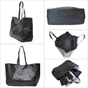 [世界に1点のみの限定商品]ピンストライプアート・トート バッグ MER-320005 | ランプリール・レザー|remplirleather|04
