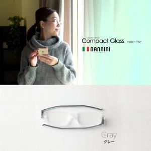 ファッションシニアグラス コンパクトグラス2 グレー 読書用メガネ|reneeds