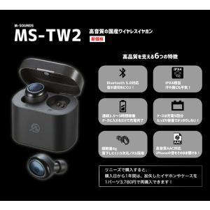 M-SOUNDS MS-TW2 ブラック ワイヤレスイヤホン ランキングに埋もれた名機 コスパ 音質 Bluetooth 5.0 イヤホン|reneeds