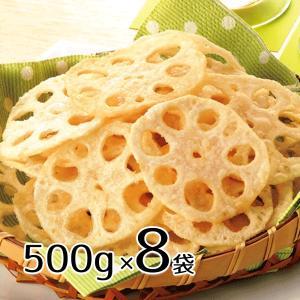冷凍 味の素 れんこんチップス 500g 11個セット 送料無料 業務用 塩味 蓮根 レンコン スナック おつまみ|renkaippin