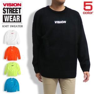 商品名 VISION セーター ロゴ刺繍 ニットセーター 商品番号 VISION-067  商品説明...