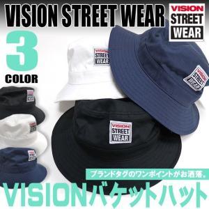 VISION STREET WEAR ヴィジョンストリートウェア ブランドタグがポイント。3色展開。男女兼用。バケットハット。VISION-302