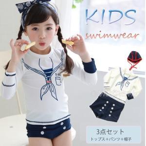 子供水着 キャップ付き セット 可愛い セットアップ 上下セット 女の子 キッズ 韓国水着 幼稚園 プール ビーチ セパレート ビキニ タンキニ ギンガムチェック|rensei
