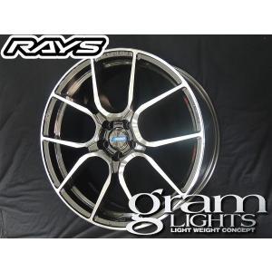 送料無料★ RAYS レイズ グラムライツ アズール57ANA HF 18インチ 215/40R18 タイヤ ホイール4本セット プリウス PHV など|rensshop