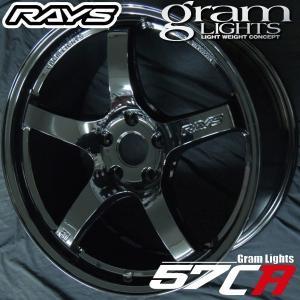 WRX STI  RAYS レイズ グラムライツ57CR グロッシーブラック GX 18インチ 245/40R18 国産タイヤ ホイール4本セット 送料無料|rensshop
