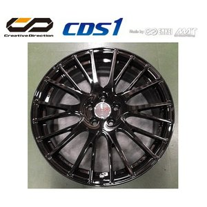 送料無料 クリエイティブディレクション CDS1 ピアノブラック 215/45R17 国産タイヤ ホイール4本セット プリウス 86 レクサスCT等|rensshop