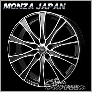 送料無料 86 BRZ プリウス PHV モンツァ ワーウィック カロッツァ ブラックポリッシュ 215/45R17  国産タイヤ ホイールセット|rensshop